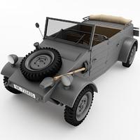 3d kubelwagen materials model