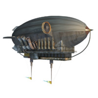 steampunk zeppelin 3d model