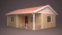 homes different facade 3d model
