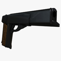 3d c4d gun firearm pistol