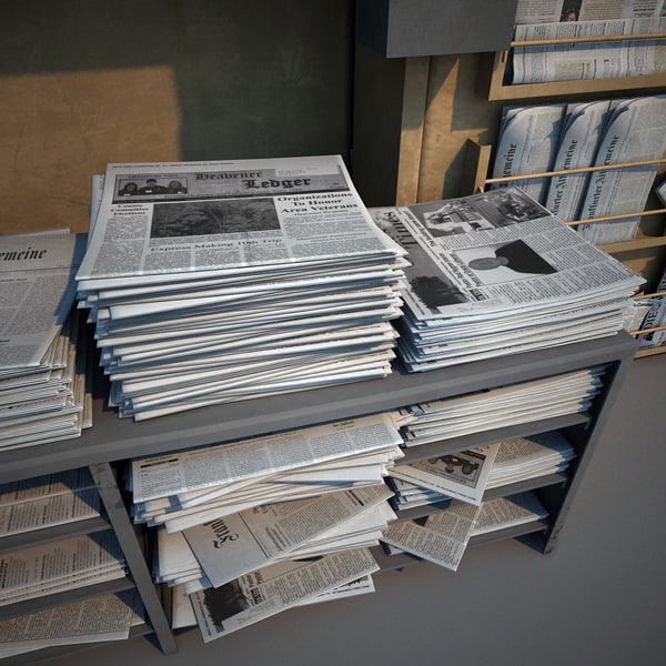 3dsmax newspapers shops - Newspapers Shops Collection... by 3d_molier