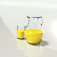 pitcher glass oj 3d model