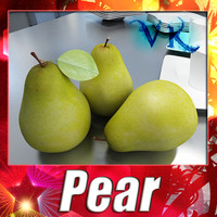 Photorealistic Pear + High Resolution Textures