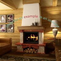 3d fireplace 32 model
