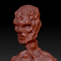 3d alien monster zbrush model