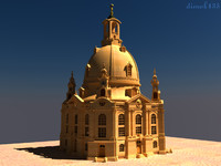 3d model dresden frauenkirche