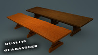 3d Medieval Style Tables