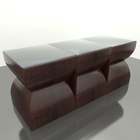 3d model island style coffee table
