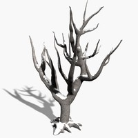 3ds max scanline winter tree snow