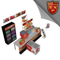 kiosk parts 3d max
