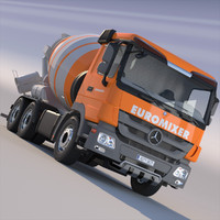 x mercedes actros cement mixer