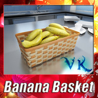 fruit basket 09 bananas 3d 3ds
