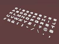 letters 3 font alphabet 3ds
