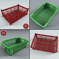 3d model plastic containers