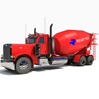 3ds max concrete mixer truck