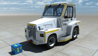 3d model tow tractor tug