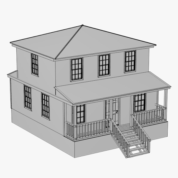 3d House Model: 3d house building