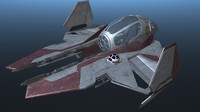 3d star wars intersepter