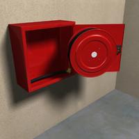 3d model hose reel cabinet