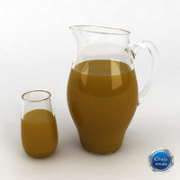 3d model pitcher glass juice