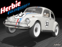 3d herbie volkswagen beetle model