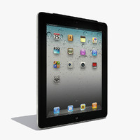 3d model ipad2 laptop