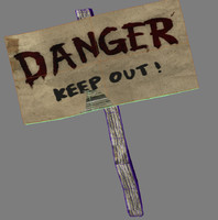 danger sign 3d model