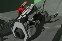 PUYA 3d Game Model Sci Fi Hovercraft Bike