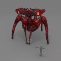 spider giant 3d obj