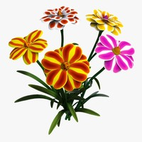 3d cartoon flowers