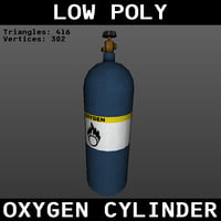 Low Poly Oxygen Cylinder