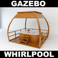 3d jacuzzi gazebo model