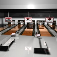 Bowling Centre Low Poly