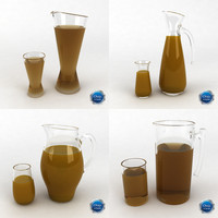 3ds max glass juice pitcher