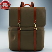 backpack mismo brown 3d max