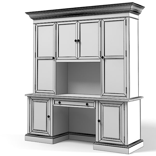 display cabinet cupboard 3d model - Display cabinet cupboard glass ...