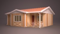 3d homes facade roof model