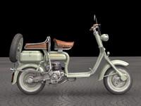 3d model 1950 lambretta