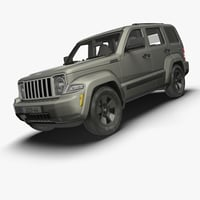 3d jeep liberty levels details model
