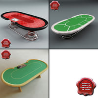 3d model poker tables