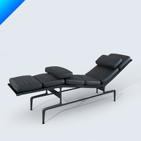 3d model soft pad chaise