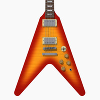 Guitar: Gibson Custom Flying V: Sunburst Finish