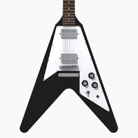 Guitar: Gibson Flying V: Black Finish