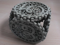 filigree dice cube 3d c4d