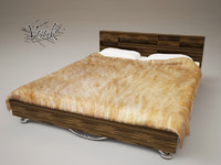 3d bed fur furniture