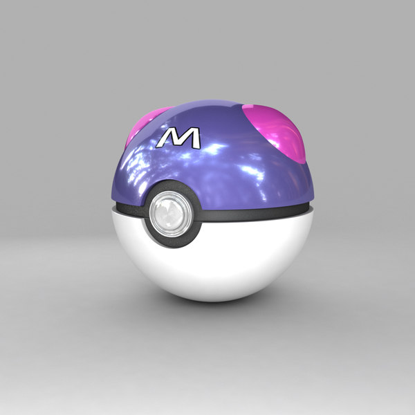pokemon ball 3d max - Master Ball (Pokeball)... by Lone  Wolf
