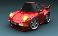 3d model porsche 993 gt2 super deformed