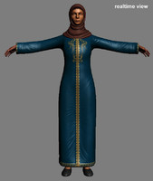 3d eastern female model