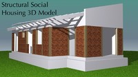 Small House Structural 3D Model