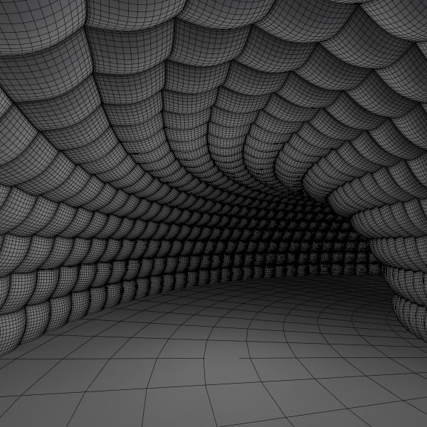 3d tunnel interior model - 3d padded tunnel... by Giimann